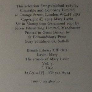antikvární kniha The stories of Mary Lavin. Volume 1, 2, 3 (ve třech svazcích), 1964