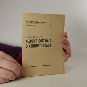 náhled knihy - O činnosti vlády