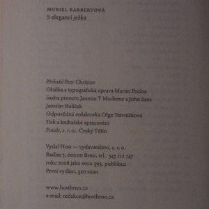 antikvární kniha S elegancí ježka, 2008