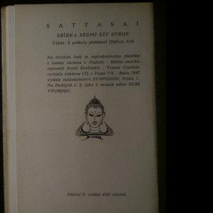 antikvární kniha Sattasaí. Sbírka sedmi set strof, 1947