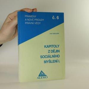 náhled knihy - Kapitoly z dějin sociálního myšlení. 1. díl.