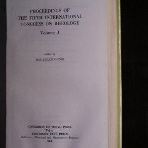antikvární kniha Proceedings of the Fifth International Congress on Rheology I- IV, 1969, 1970