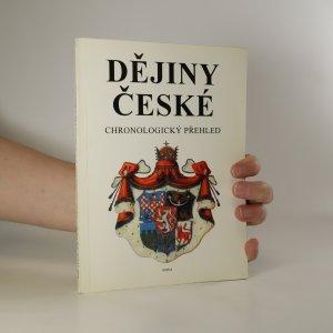 náhled knihy - Dějiny české. Chronologický přehled