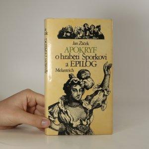 náhled knihy - Apokryf o hraběti Šporkovi a Epilog