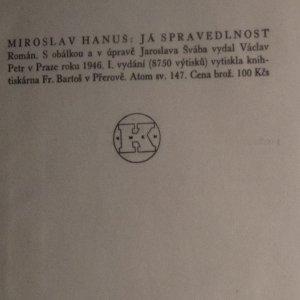 antikvární kniha Já - spravedlnost , 1946