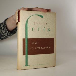 náhled knihy - Stati o literatuře. Literární kritiky, polemiky a studie (kniha se rozpadá pod rukama)