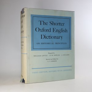náhled knihy - The Shorter Oxford English Dictionary on Historical Principles
