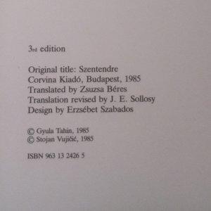 antikvární kniha Szentendre, 1985