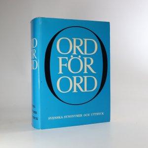 náhled knihy - Ord för ord. Svenska synonymer och uttryck (Slovo za slovo. Švédská synonyma a výrazy)