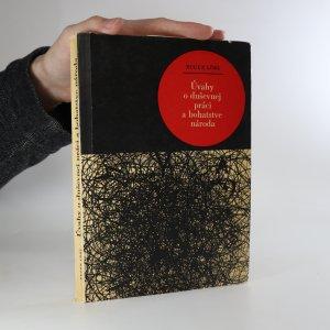 náhled knihy - Úvahy o duševnej práci a bohatstve národa