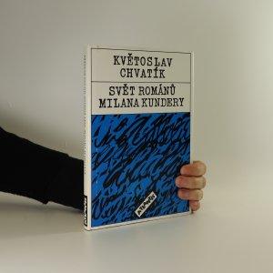 náhled knihy - Svět románů Milana Kundery