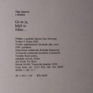 antikvární kniha Co to je, když se řekne..., 1969