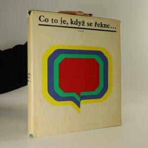 náhled knihy - Co to je, když se řekne...