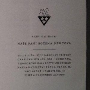 antikvární kniha Naše paní Božena Němcová, 1946