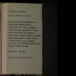 antikvární kniha Jan houslista, 1970