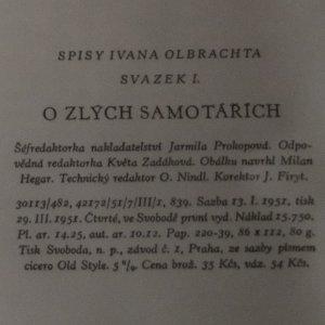 antikvární kniha O zlých samotářích, 1951