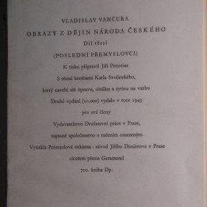 antikvární kniha Obrazy z dějin národa českého. III. Díl. Poslední Přemyslovci, 1949