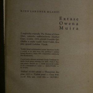 antikvární kniha Extase Owena Muira, 1957