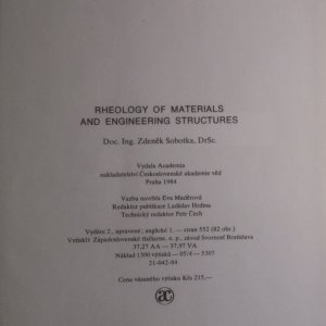 antikvární kniha Rheology of Materials and Engineering Structures, 1984