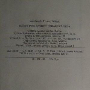 antikvární kniha Sondy pod povrch lékařské vědy, 1983