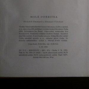 antikvární kniha Malá Dorritka, 1954