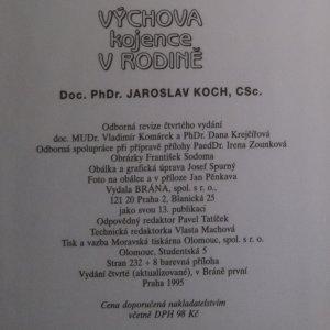 antikvární kniha Výchova kojence v rodině, 1995