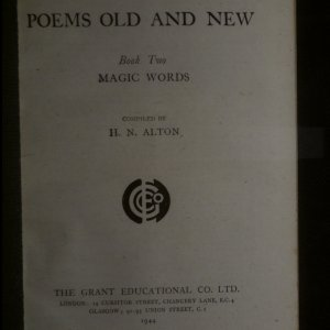 antikvární kniha Poems Old and New. Book Two. Magic Words, 1944