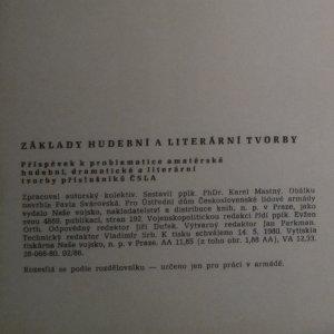 antikvární kniha Základy hudební a literární tvorby, 1980