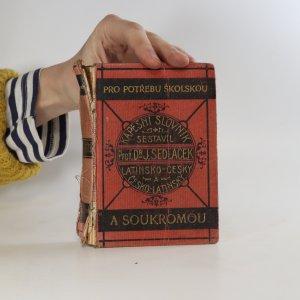 náhled knihy - Nový kapesní slovník latinsko-český a česko-latinský