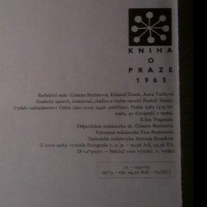 antikvární kniha Kniha o Praze, 1963