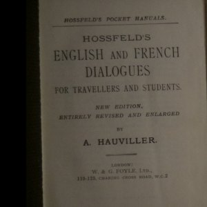 antikvární kniha Hossfeld's English and French Dialogues, neuveden