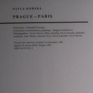 antikvární kniha Prague - Paris, 1990