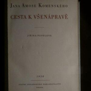 antikvární kniha Jana Amose Komenského cesta k všenápravě, 1958
