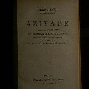 antikvární kniha Aziyadé, neuveden