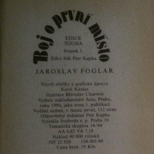 antikvární kniha Boj o první místo, 1990