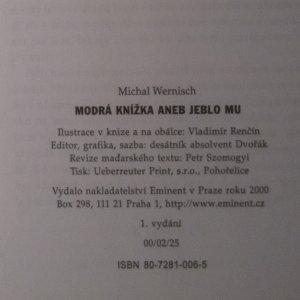 antikvární kniha Modrá knížka. Aneb jeblo mu, 2000