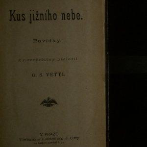 antikvární kniha Kus jižního nebe. Povídky, neuveden