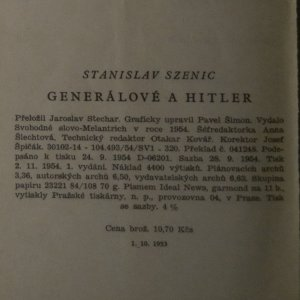 antikvární kniha Generálové a Hitler, 1954