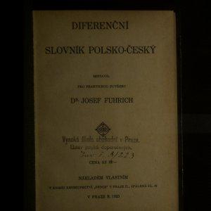 antikvární kniha Diferenční slovník polsko-český, 1925