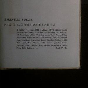 antikvární kniha Prahou krok za krokem, 1948