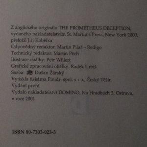 antikvární kniha Prometheova lest, 2001