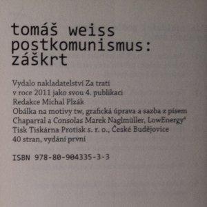 antikvární kniha Postkomunismus: záškrt, 2011