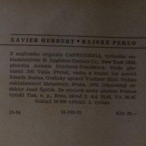 antikvární kniha Rajské peklo, 1972