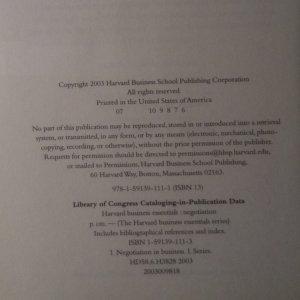 antikvární kniha Harvard business essentials. Negotiation, 2003