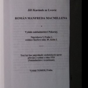 antikvární kniha Romány tří magů I. Román Manfreda Macmillena, 1996