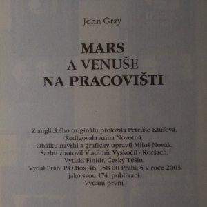 antikvární kniha Mars a Venuše na pracovišti, 2003