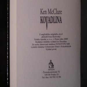 antikvární kniha Kovadlina, 2000