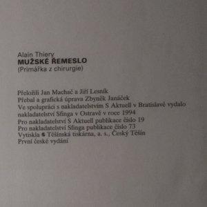 antikvární kniha Mužské řemeslo. Primářka z chirurgie , 1994