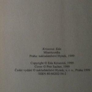 antikvární kniha Misericordia, 1999